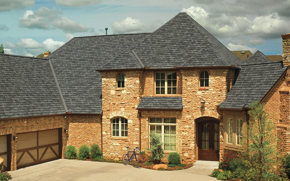 Two story House with a new roof